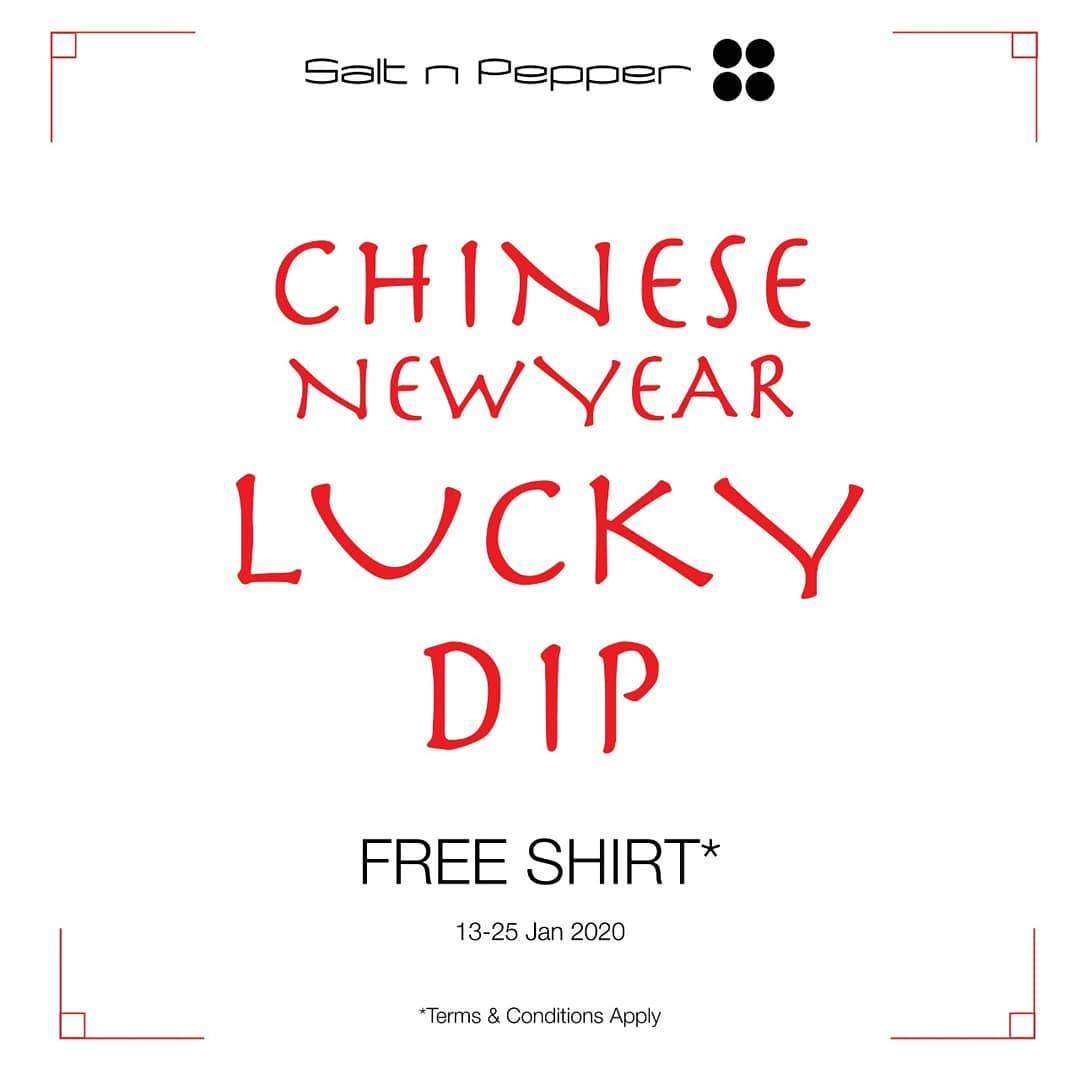 Salt n' Pepper Promo Get lucky Angpao With Minimal Purchase IDR 300.000
