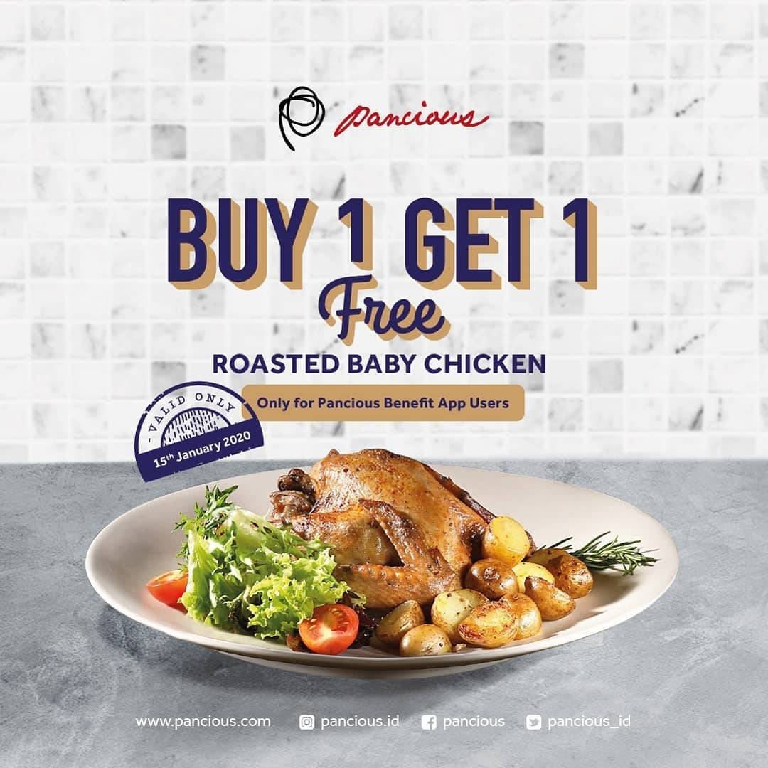 Pancious Promo Buy 1 Get 1 Free Roasted Baby Chicken
