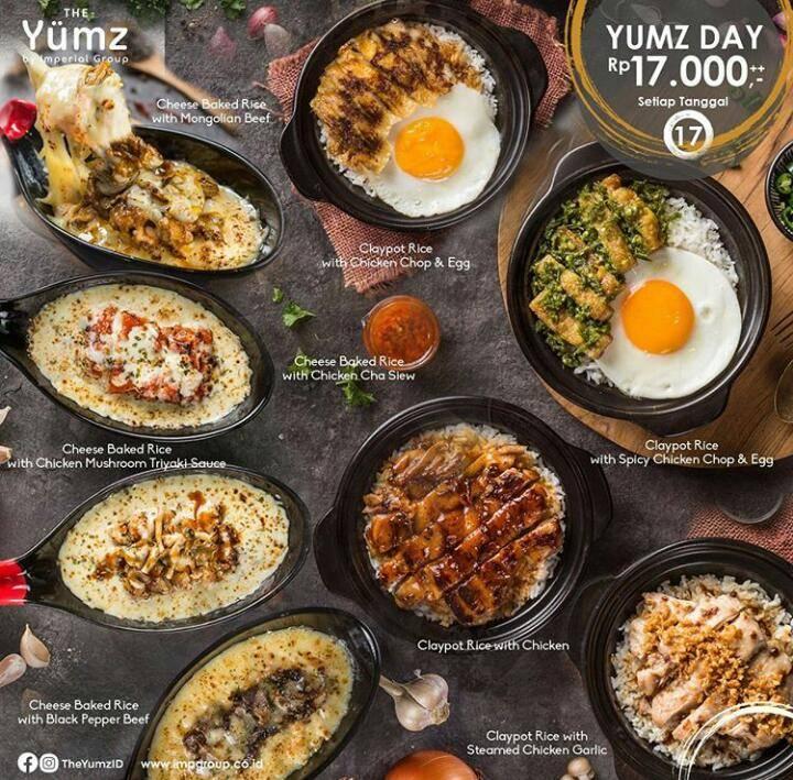 The Yumz Promo Menu Pilihan Dengan Harga Rp. 17.000