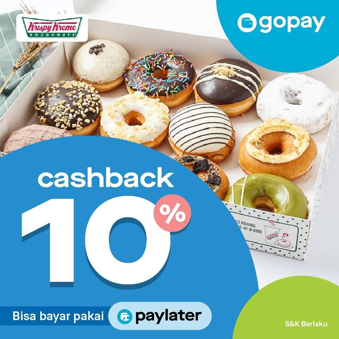 Krispy Kreme Promo Cashback 10% Melalui Gopay