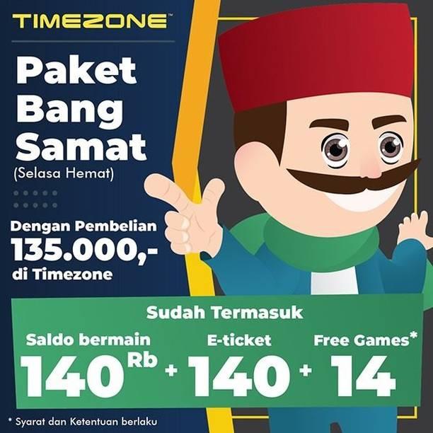 Timezone Promo Bang Samat, Dapatkan Tambahan Saldo Setiap Hari Selasa