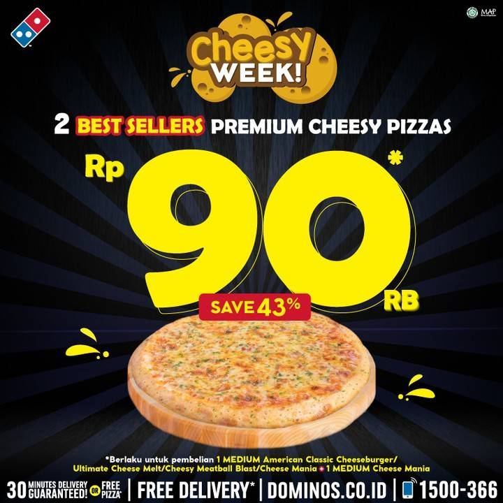 Domino's Pizza Promo 2 Pizza Pilihan Hanya Rp. 90.000
