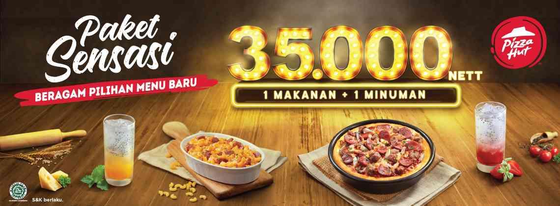 Pizza Hut Promo Paket Sensasi Hanya Rp. 35.000