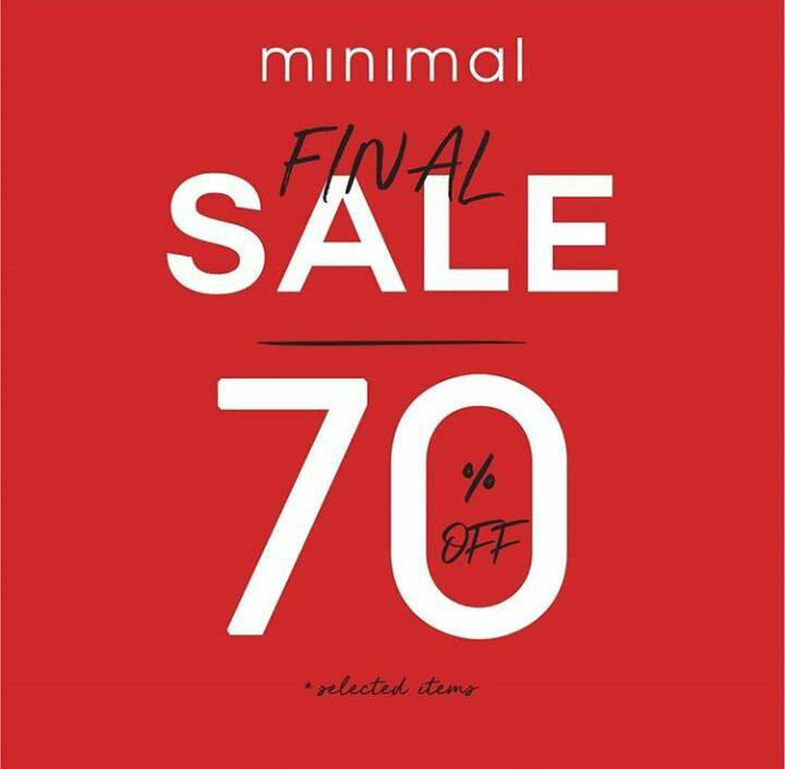 Minimal Promo Discount 70% Off For Selected Items
