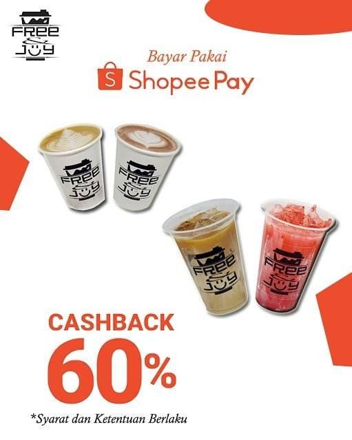 Free And Joy Promo Bayar Pake Shopee Pay Dapatkan Cashback 60%