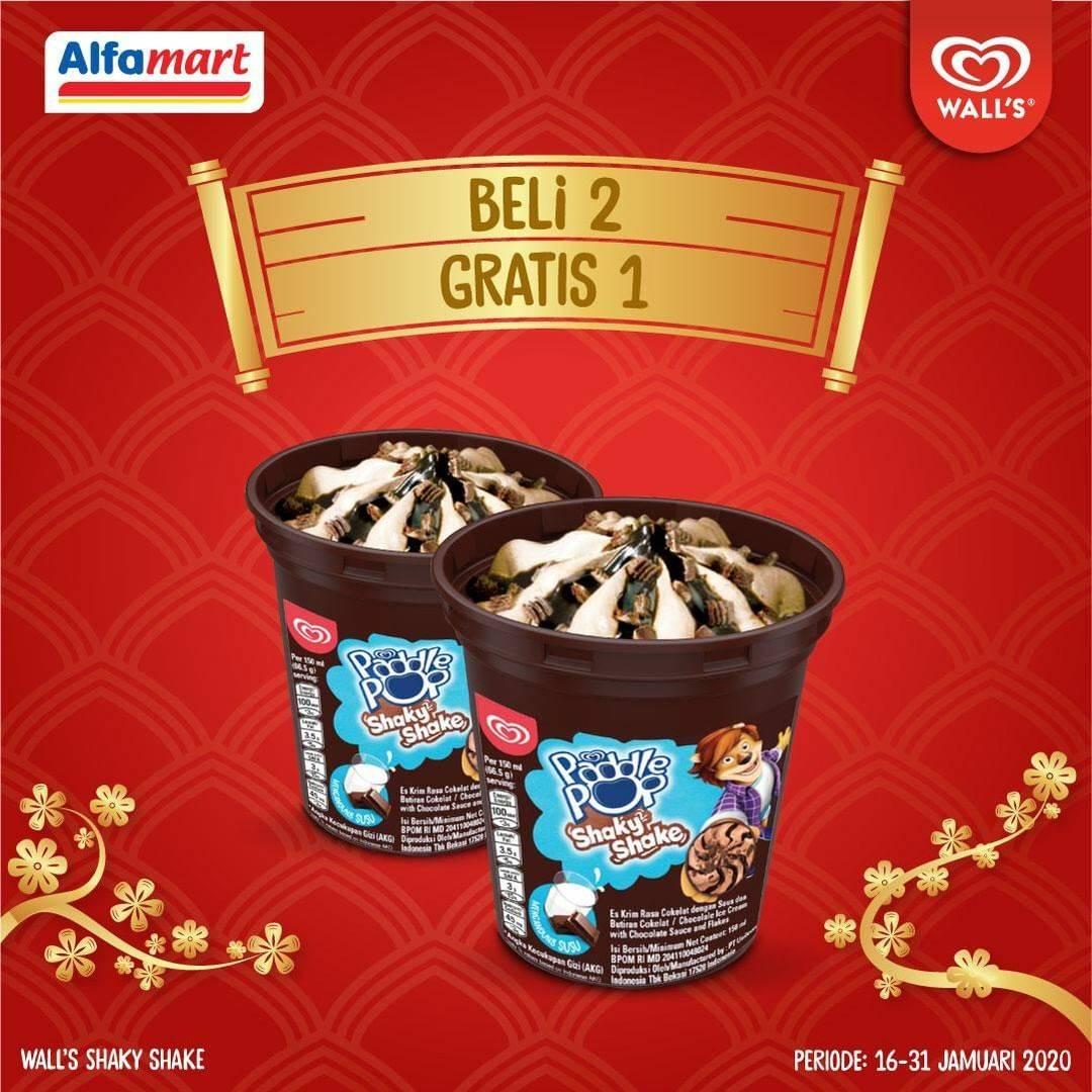 Alfamart Promo Beli 2 Gratis 1 Ice Cream Walls