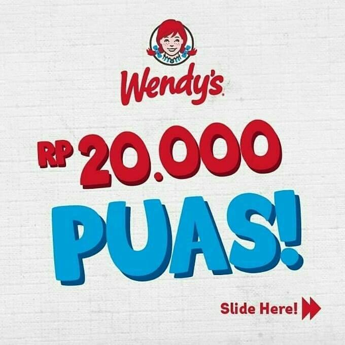 Wendys Promo Paket Makan Puas Cuma Rp. 20 Ribuan saja