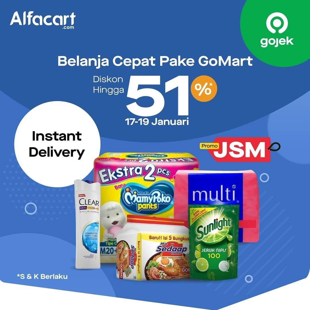 Alfacart Promo Diskon Hingga 51% Pakai GoMart