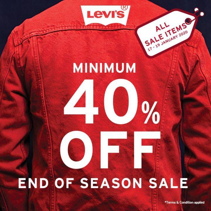 Levi's Promo End Of Season Sale for All Items Minimum Discount 40%