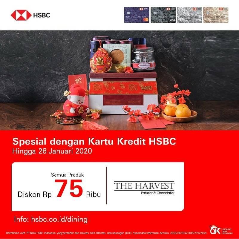 The Harvest Promo Diskon Rp. 75.000 Dengan Kartu Kredit HSBC
