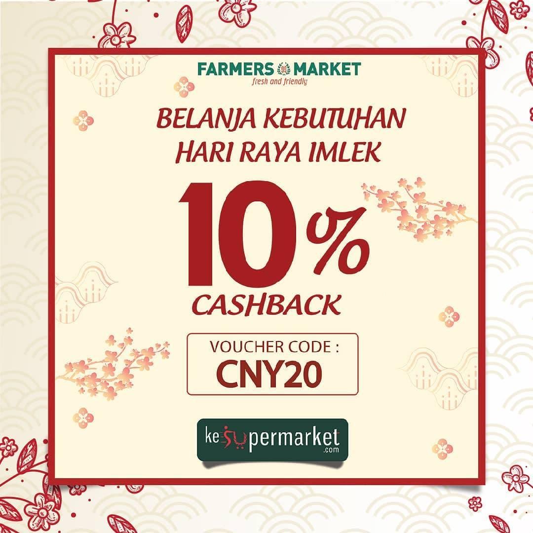 Farmers Market Promo Cashback 10% Pembayaran Melalui Kesupermarket.com