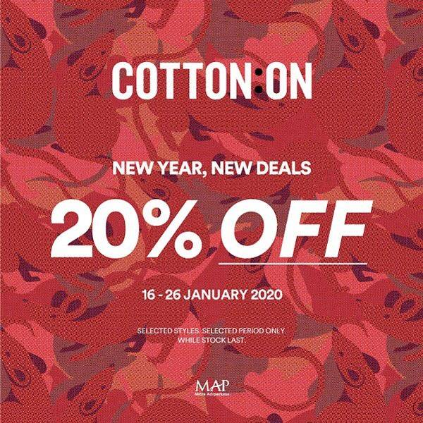Cotton On Promo New Year New Deals, Discount 20% Off