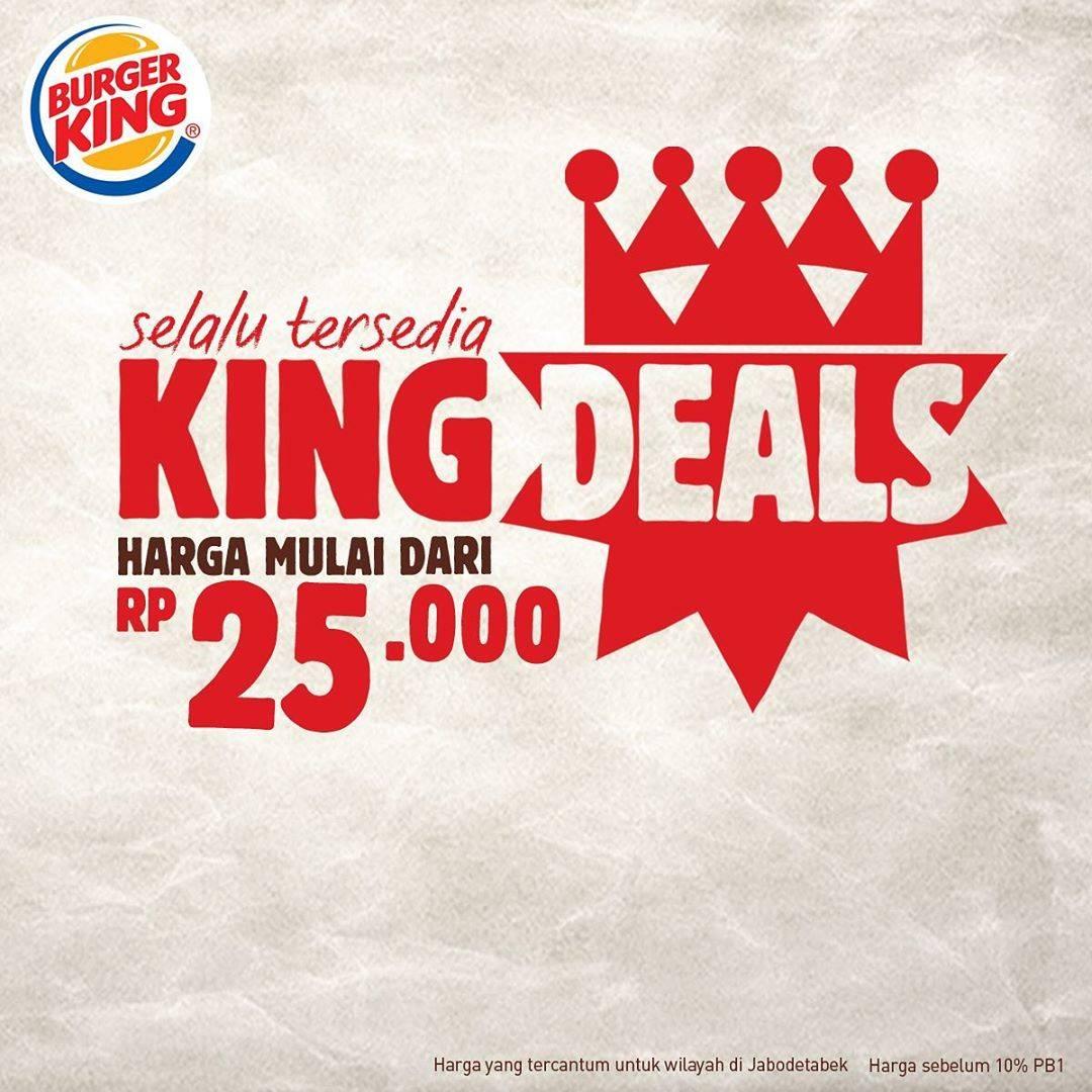 Diskon Burger King Promo Burger King Deals Harga Mulai Dari Rp. 25.000