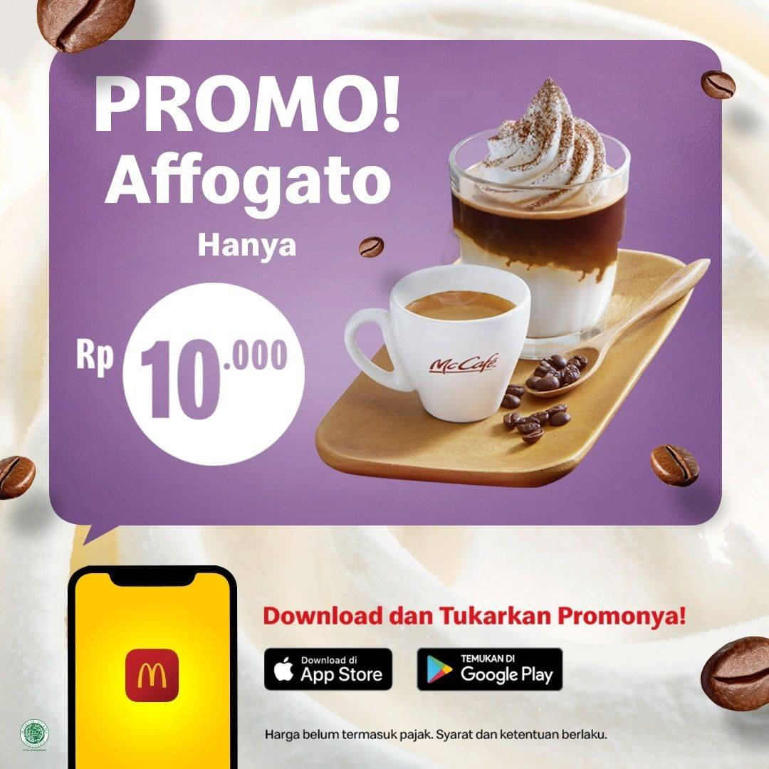 McDonalds Promo Menu Dessert Affogato Cuma Rp. 10.000