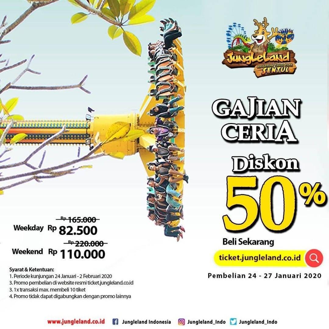 Jungleland Promo Payday, Diskon 50% Off