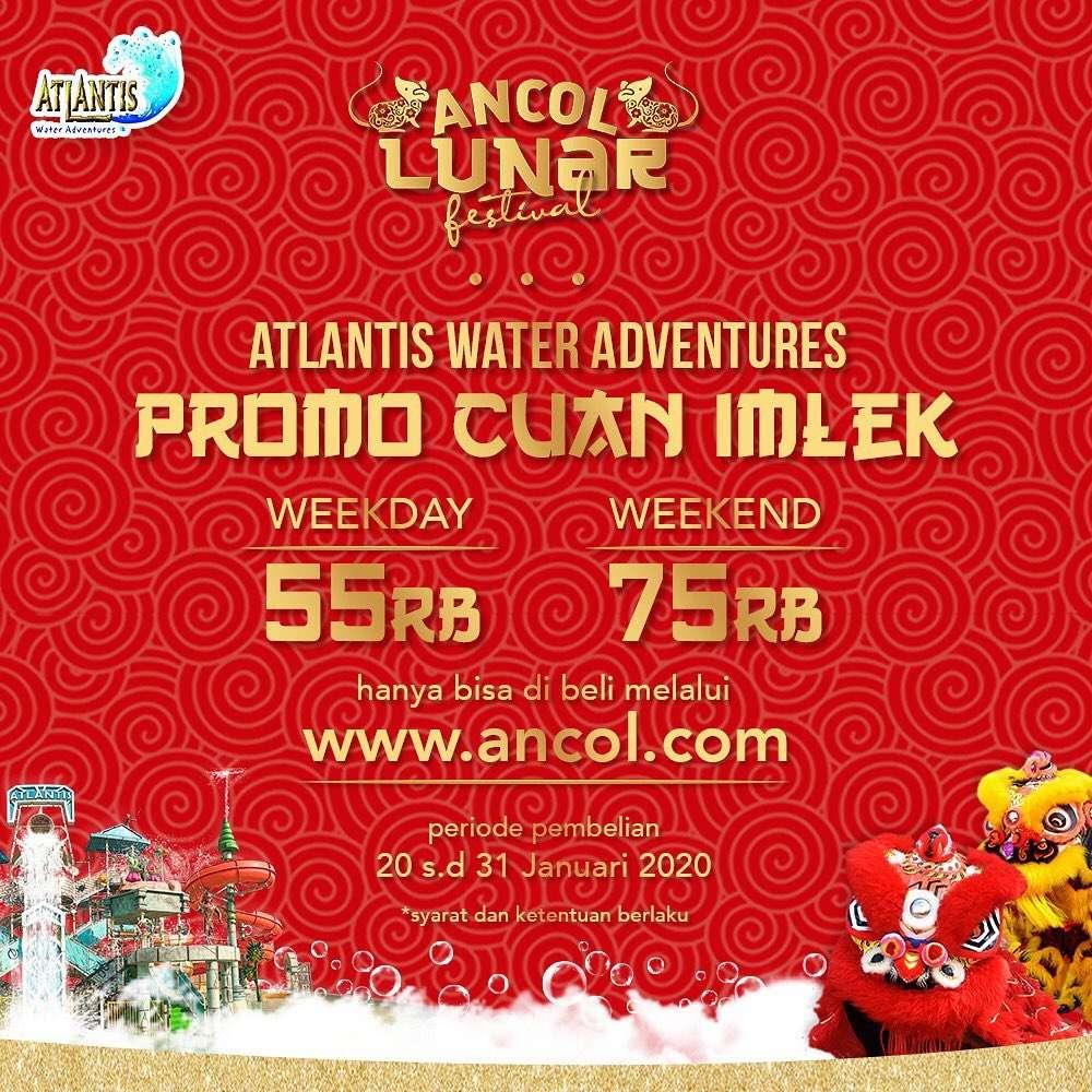 Atlantis Water Adventure Promo Imlek, Harga Tiket Mulai Dari Rp. 55.000