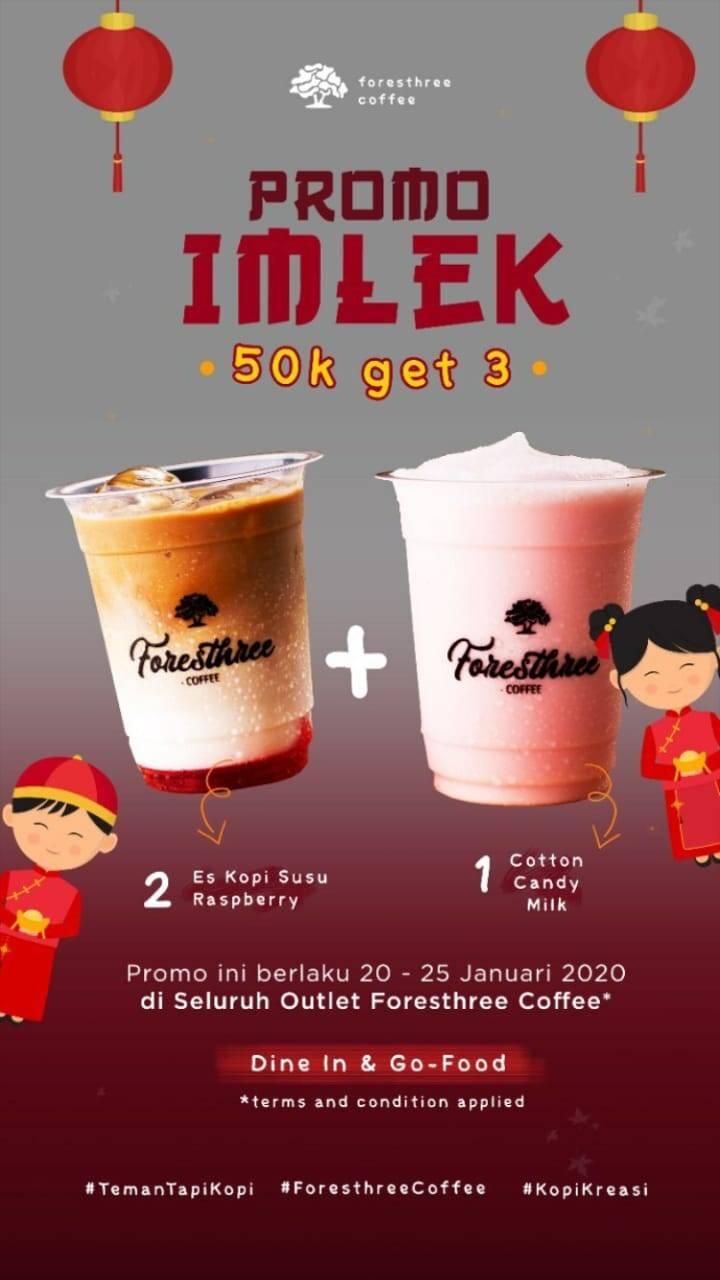 Foresthree Coffee Promo Imlek, Dapatkan Menu Pilihan Cuma Rp. 50.000