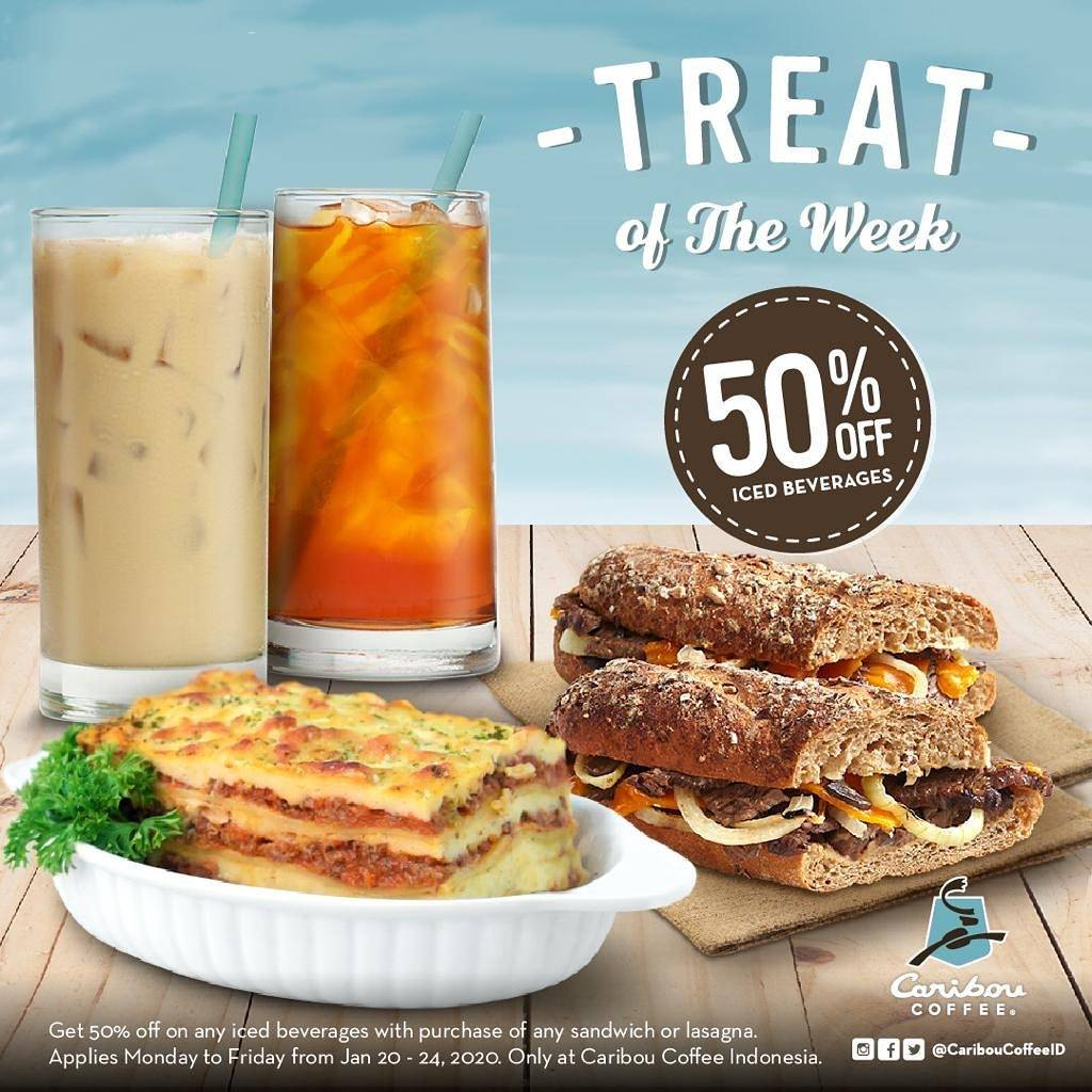 Caribou Coffee Promo Discount 50% Off For Selected Menu