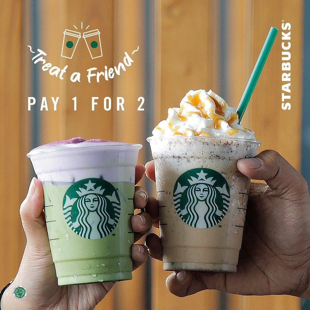 Starbucks Promo Beli 1 Gratis 1 Untuk Minuman Apapun Dengan Kupon Line