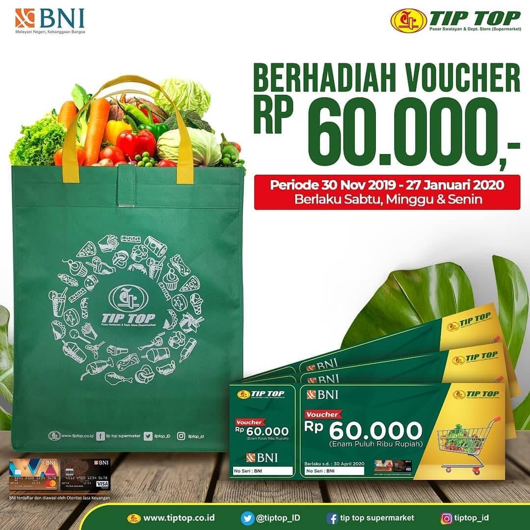 Tip Top Promo Gratis Voucher Belanja Senilai Rp 60.000 Dengan Kartu Kredit BNI