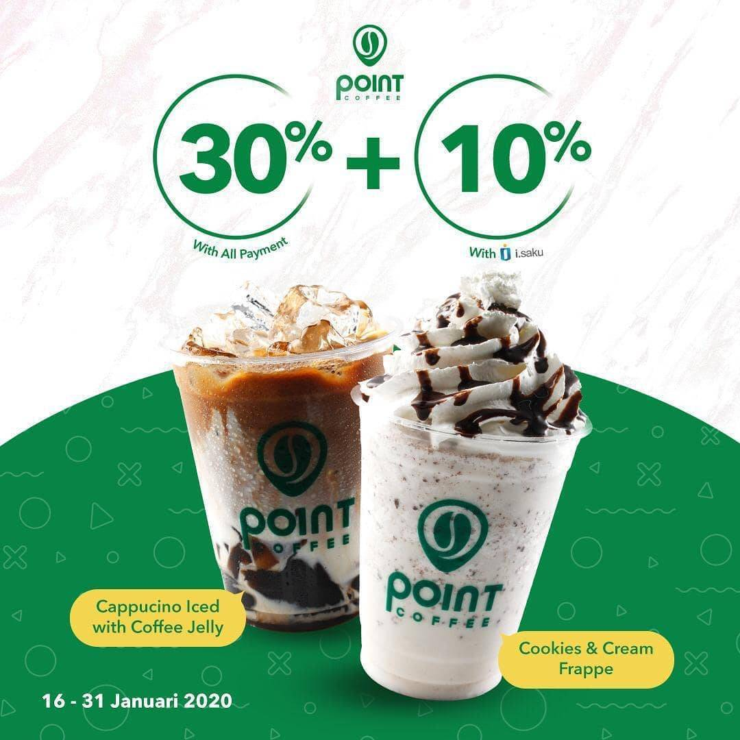 Indomaret Point Coffee Promo Diskon 40% Dengan I.Saku Dan 30% Dengan Pembayaran Lain