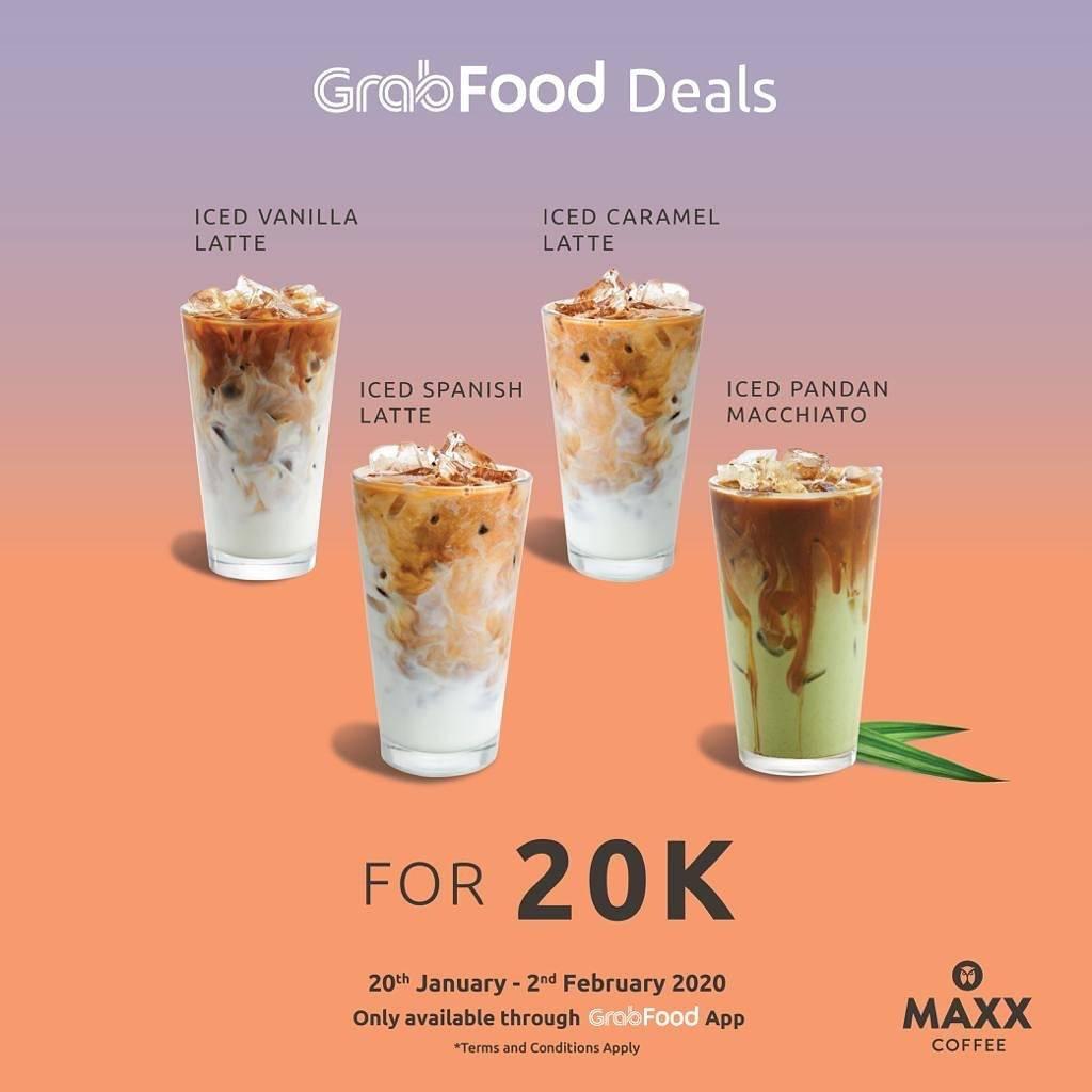 Maxx Coffee Promo Grab Deals Cuma Rp. 20.000 Untuk Minuman Pilihan