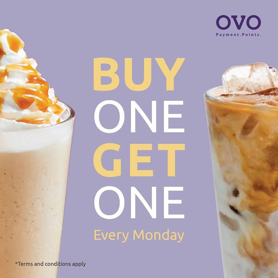 Maxx Coffee Promo Buy 1 Get 1 Menggunakan OVO Cash