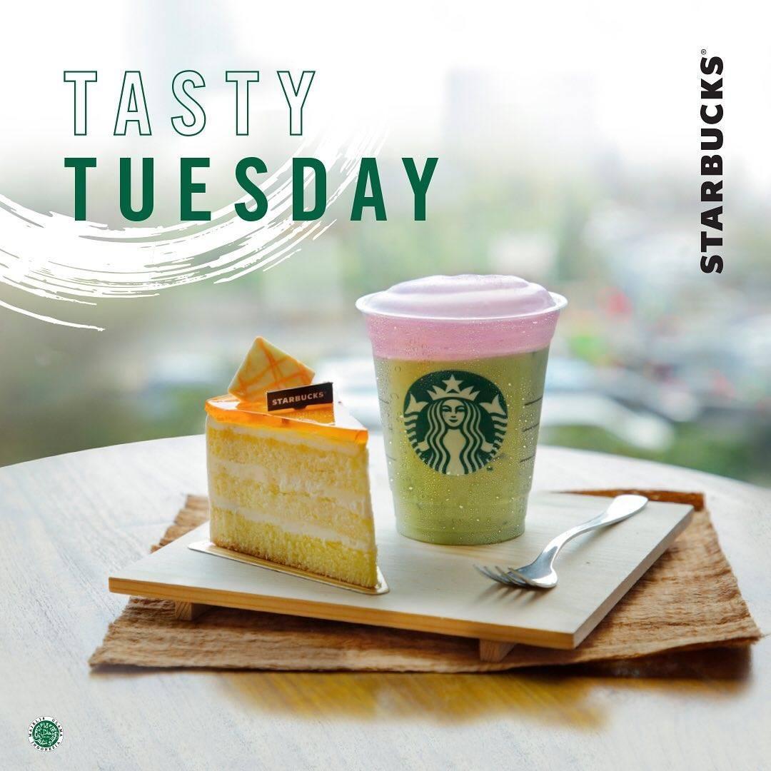 Starbucks Promo Tasty Tuesday, Beli Makanan Terbaru Dan Minuman Apapun Hanya Setengah Harga.