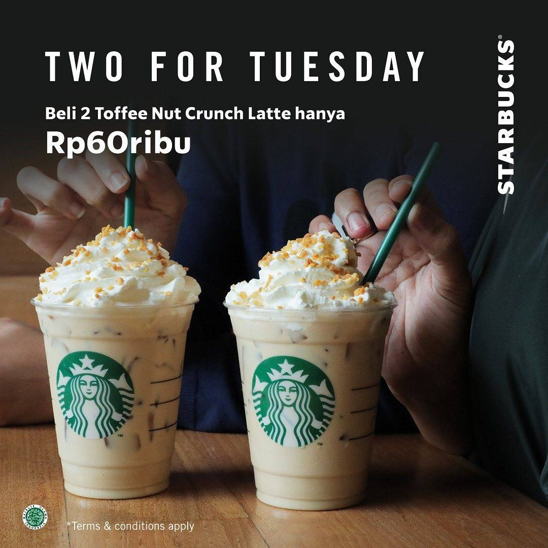 Starbucks Promo Two For Tuesday, Beli 2 Minuman Pilihan Hanya Rp. 60.000