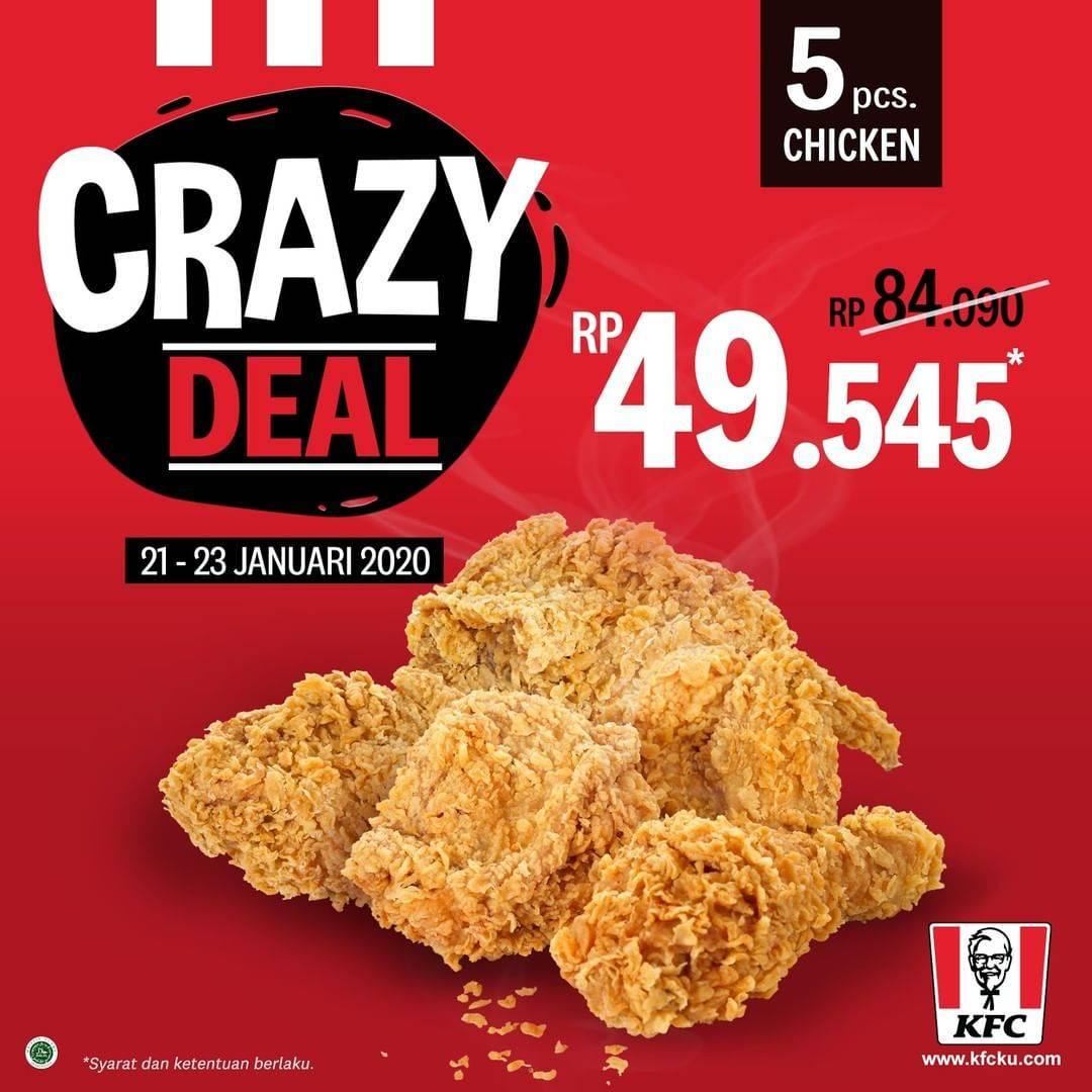 KFC Promo Crazy Deals Cuma Rp. 49.545