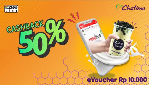 Chatime Promo eVoucher Senilai Rp. 10.000 Dan Dapatkan Cashback 50% Dari Ezeelink