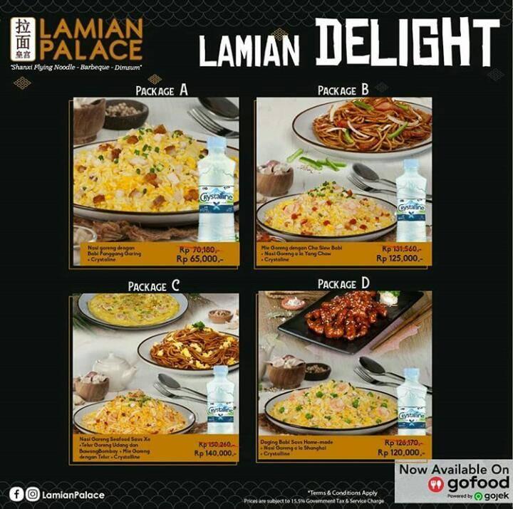 Lamian Palace Promo Harga Spesial Mulai Rp. 65.000 Paket Lamian Delight Khusus Pemesanan Via GoFood
