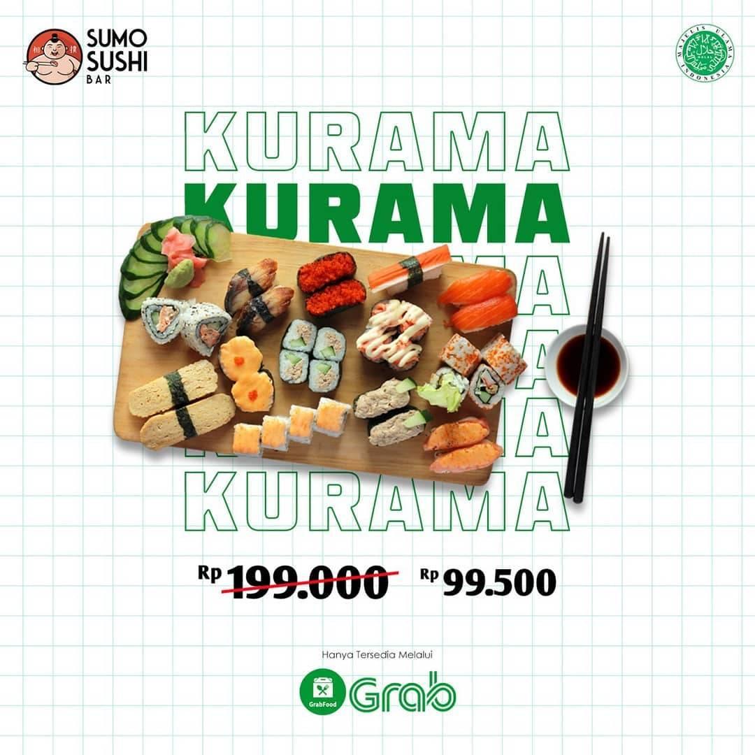 Sumo Sushi Promo Kurama Cuma Rp. 99.500 Pemesanan Melalui Grab Food