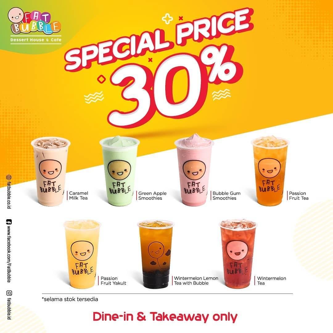 Fat Bubble Promo Discount 30% Untuk Minuman Pilihan Menggunakan GoFood