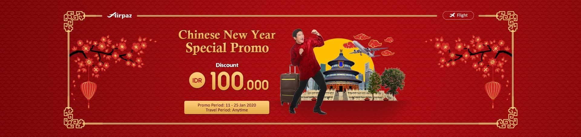 Diskon Airpaz Promo Chinese New Year Special Deals For You, Enjoy Rp 100,000 Discount