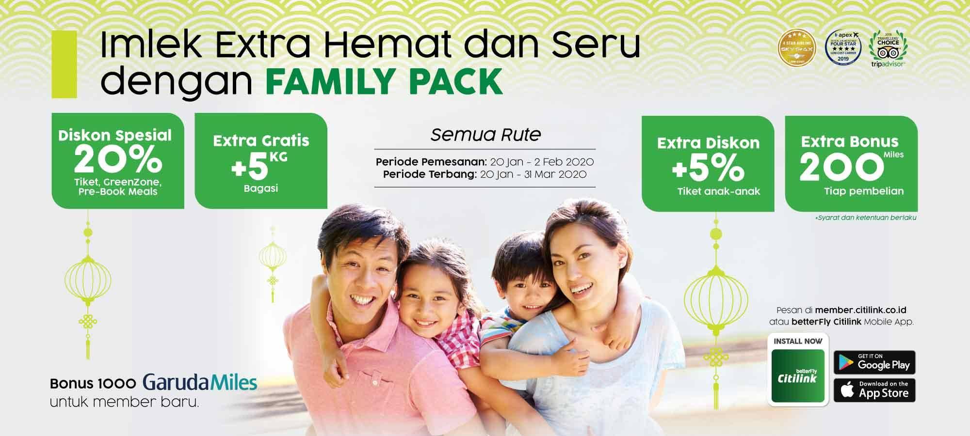Citilink Promo Family Pack Spesial Imlek