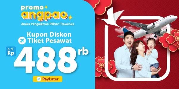 Traveloka Promo Diskon Penerbangan Hingga Rp. 488.000
