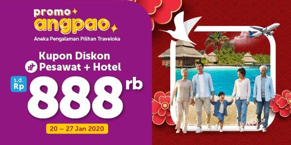Traveloka Promo Diskon Tiket Pesawat + Hotel Hingga Rp. 888.000