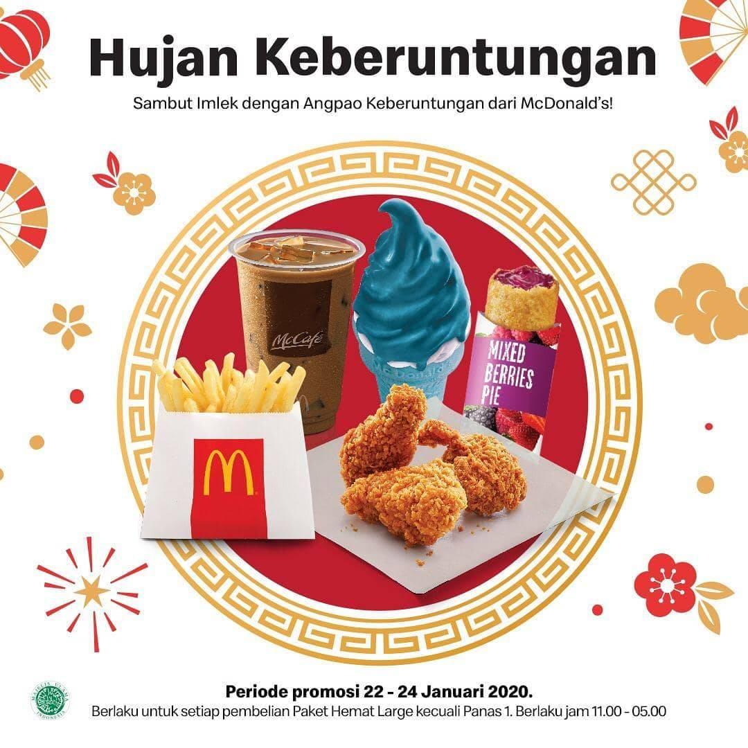 McDonalds Promo Angpao Keberuntungan, Dapatkan Hadiah Menu Pilihan
