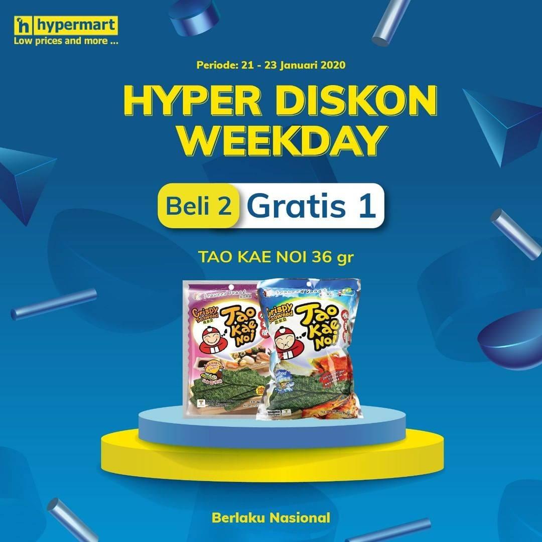 Hypermart Promo Beli 2 Gratis 1 Tao Kae Noi 36 gr
