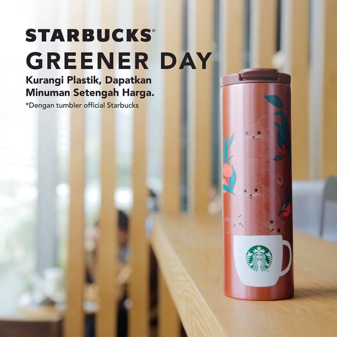 Starbucks Promo Diskon 50% Dengan Menggunakan Tumbler/Mug Official Starbucks