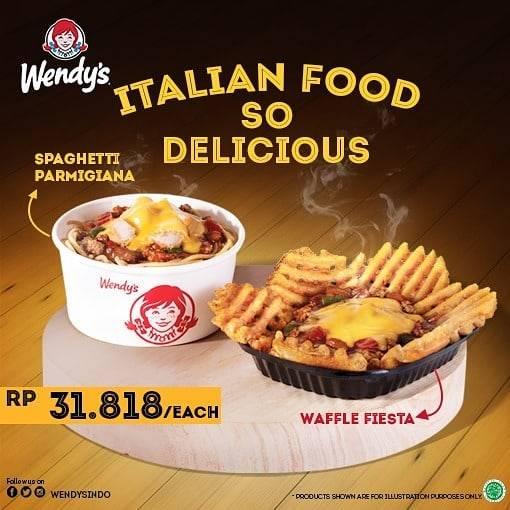 Wendys Promo Italian Food Cuma Rp. 31.818