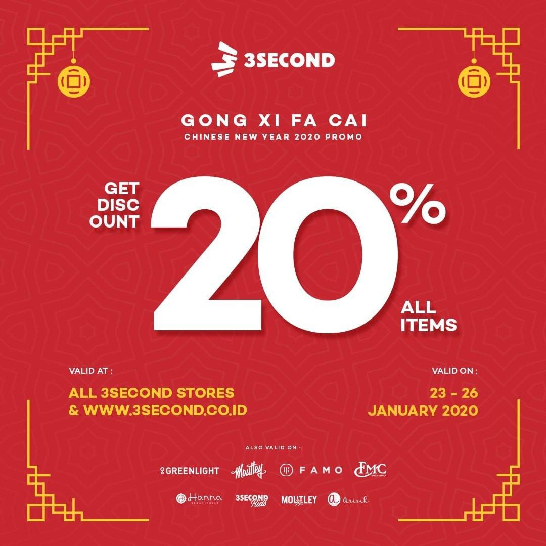 3Second Promo Diskon 20%