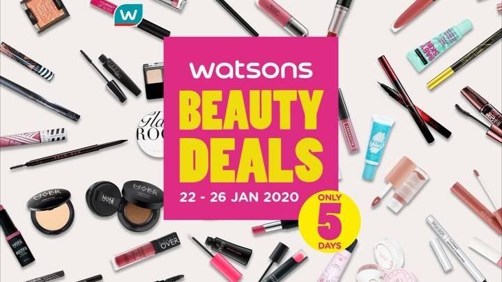 Watsons Promo Beauty Deals, Diskon Mulai Dari 30% Untuk Produk Kecantikan