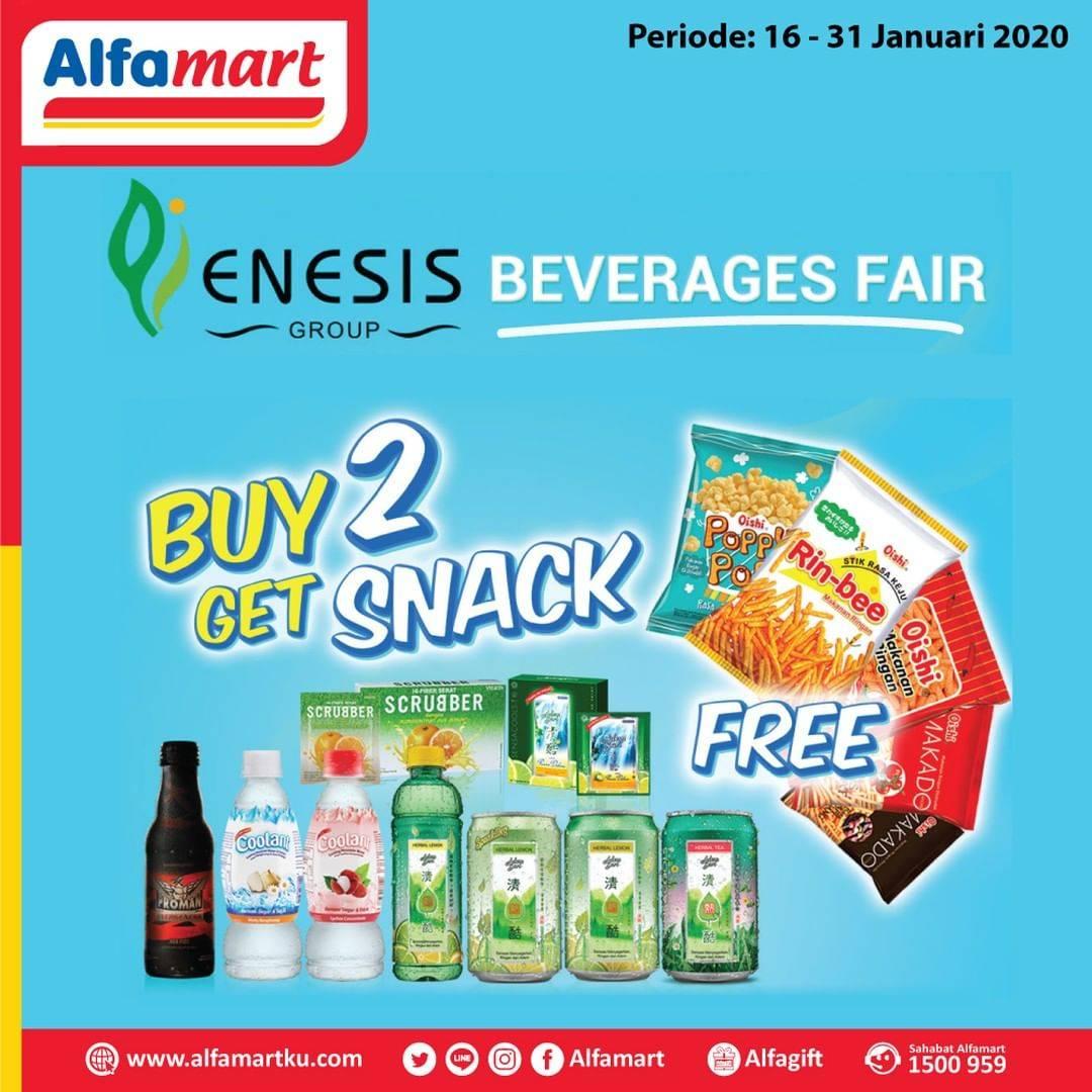 Alfamart Promo Beli 2 Produk Enesis Dapatkan Gratis Snack Pilihan