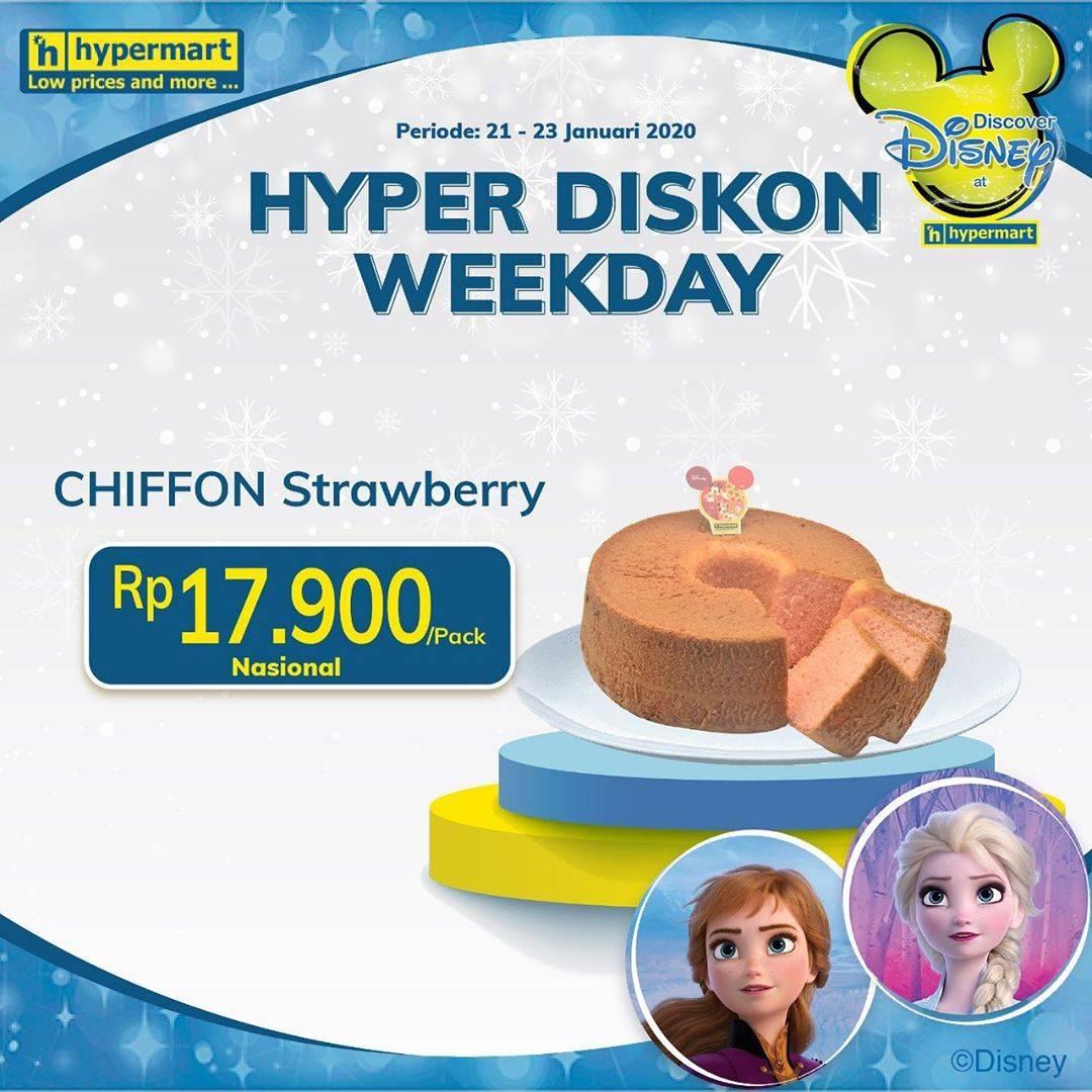 Hypermart Promo Kue Chiffon Strawberry Hanya Rp 17.900/Pack