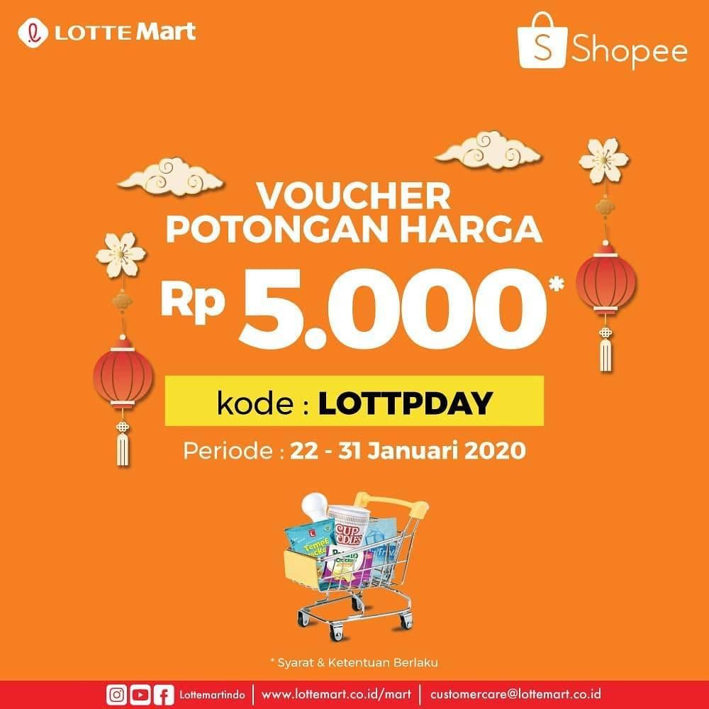 LotteMart Promo Potongan Harga Rp. 5.000 Melalui Shopee