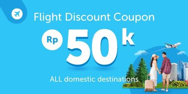 Diskon Traveloka Promo Kupon Diskon Rp. 50.000 Untuk Rute Domestik Dengan garuda Indonesia