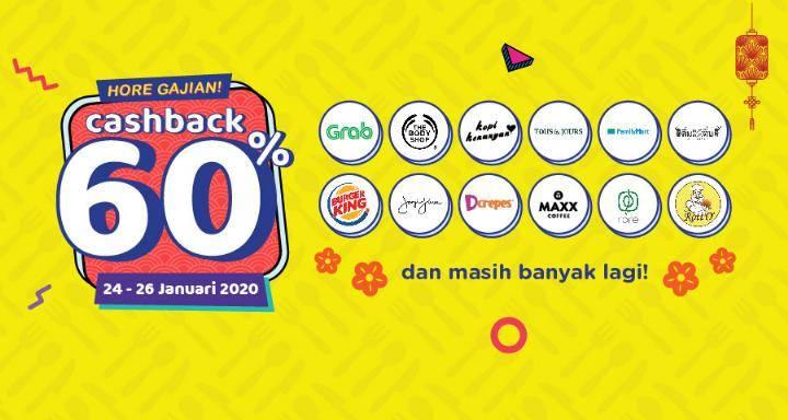 OVO Promo Hore Gajian, Dapatkan Cashback 60% Dengan Belanja Di Merchant Tertentu