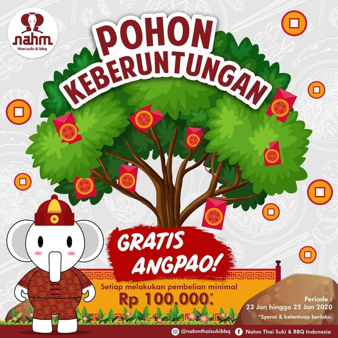 Nahm Thai Suki & BBQ Promo Gratis Angpao Min. Transaksi Rp 100.000,-